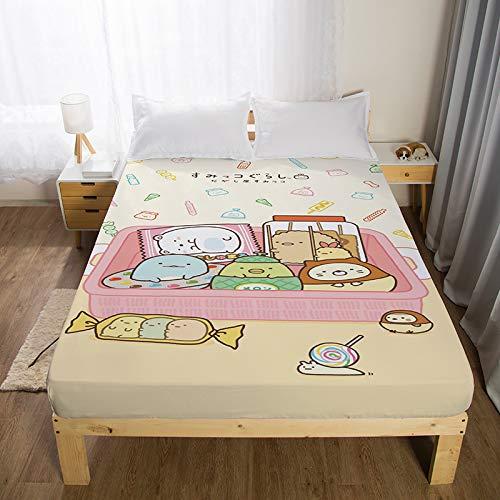 Xiaomizi Lujoso cojín inferior y dobladillo elástico que se adaptan a tu cama, son hipoalergénicas, transpirables y muy suaves.