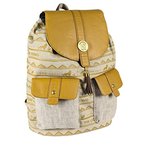 CERDÁ LIFE S LITTLE MOMENTS: Mochila Casual Travel Rey Leon de Color Amarillo   37 cm