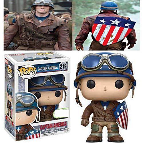 MeterMall Funko Pop! Marvel # 219 Capitán América El Primer vengador Capitán América Juguetes
