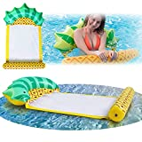 Gian Inflatable Pineaplle Pool Float Hammock with Fast Valves Portable Floaties for Adult Kids Fun Summer Beach Swimming Water Toys Lounger Rafts Floating Tubes for Lake | River | Sea | Pool