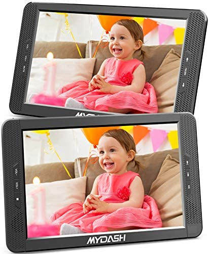 MYDASH 10 1 Dual Car DVD Player Headrest Kids CD DVD Player with Built in 5 Hrs Rechargeable product image