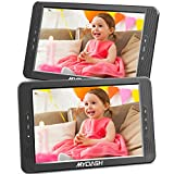 MYDASH 10.1' Dual Car DVD Player, Headrest Kids CD DVD Player with Built-in 5 Hrs Rechargeable Battery and Bracket, Support USB/SD/MMC Card& Resume Play Function&AV in/Out (1 Player+1 Monitor)