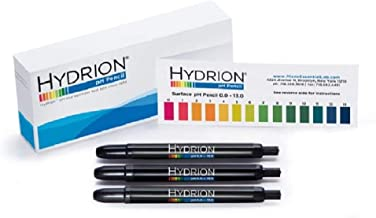 3 Pack Hydrion P-12m Insta- Chek 0-13 Range Mechanical Ph Pencils - Pens for Surface Testing