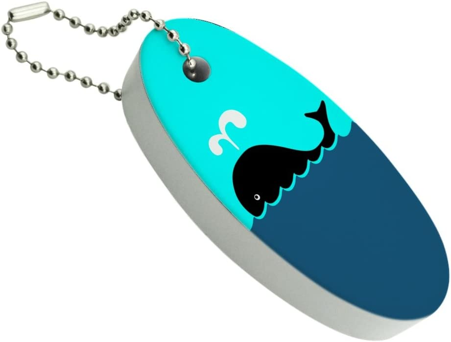 Graphics and More Whale of A Inexpensive Time Floating Keychain OFFer Foam Fi Oval