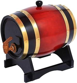 Seau de Stockage en Chêne de 3 Litres, Distributeur de Seaux à Whisky pour Conserver Les Spiritueux Du Vin, Agave De Whisk...