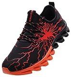 BRONAX Zapatos para Correr en Montaña y Asfalto Aire Libre y Deportes Zapatillas de Running Padel para Hombre Negro Naranja 41