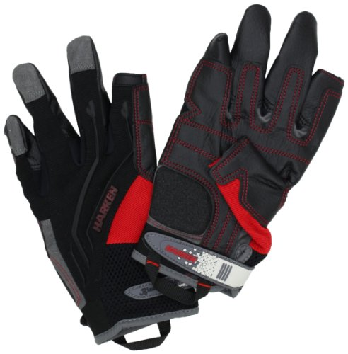 HARKEN Sport Men's Full Finger Reflex Gloves, Black, X-Small