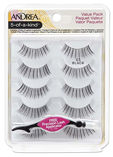 Andrea Natural False Eyelashes Pack #53 with Lash Applicator, 2 Pack