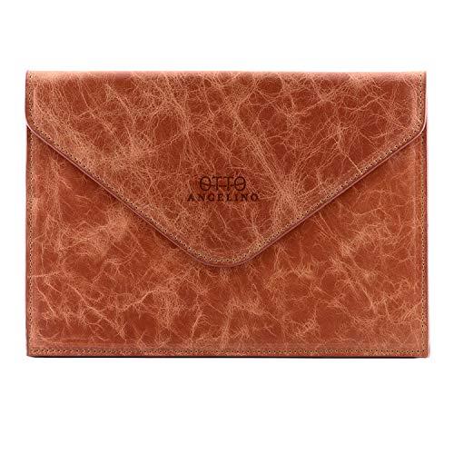 Otto Angelino Italiaans Leer Dames Lederen Clutch Clutch Bag - RFID Bescherming - Magnetische Voorsluiting met Diverse Compartimenten voor Credit Cards, EC-Kaarten Of Visitekaartjes - Slank Ultra-Slim Design
