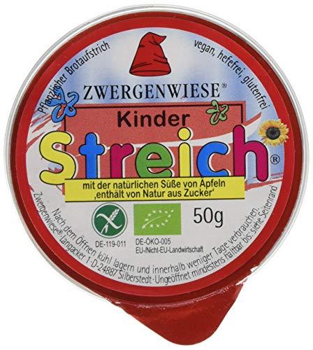 Zwergenwiese Kinder 50 g Bio Brotaufstrich Vegetarisch, 12er Pack (12 x 50 g)