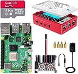 LABISTS Raspberry Pi 4 8GB Kit Incluido Tarjeta SD 128GB Precargada con Raspberry Pi OS, 2 Ventilador, Disipadores de Calor Grande, 5.1V 3A Tipo C con ON/Off, 2 Micro HDMI, Caja y Lector de Tarjetas