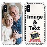 AIPNIS Funda Personalizada para iPhone X/XS, Regalo de Fotos Personalizable, TPU Suave y Transparente para Design Your Photos or Text