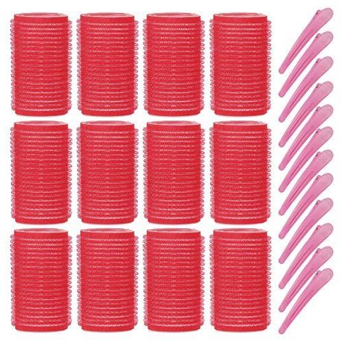 FRCOLOR Lockenwickler-Sets Selbstgreifendes Lockenwickler-Jumbo-Lockenwickler-Werkzeug mit Haarspangen zum Stylen 24 Stück (12 Stück 4 4 Cm Haarroller 12 Stück Haarspangen Zufällige