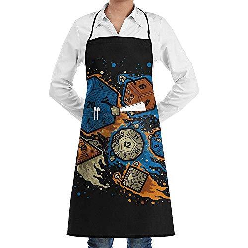 Küchenschürzen Zes Tino Würfel Set D20 20-Seitige Würfel Cafe Bar Pub Restaurant Maschinenwaschbar Verstellbarer Grill Unisex Latzschürze Basteln Garten Küchenschürzen Mit Taschen