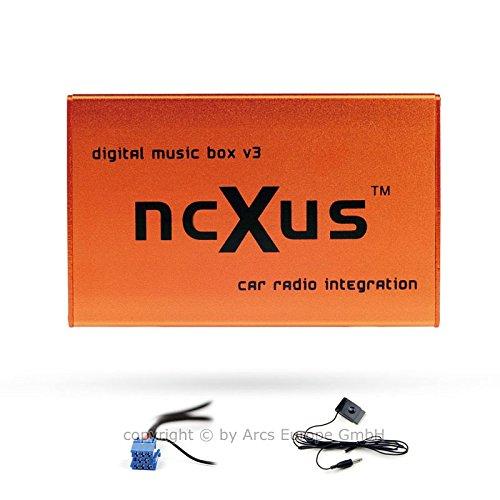 ncXus V3 Pro 8-Pin USB SD MP3 CD Wechsler Interface für VW Audi Skoda SEAT mit Bluetooth A2DP