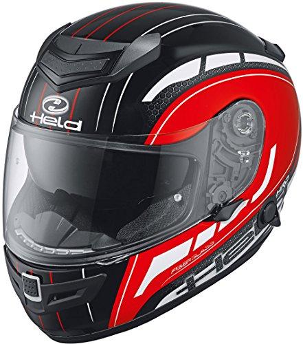 Held Brave II Motorradhelm Dekor Schwarz/Weiß/Rot XL (60)