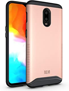 OnePlus 6T Case, TUDIA [Merge Series] Dual Layer Heavy Duty Reinforced Military Standard Extreme Drop Protection/Rugged with Slim Camera Precise Cutouts Phone Case for OnePlus 6T (Rose Gold)