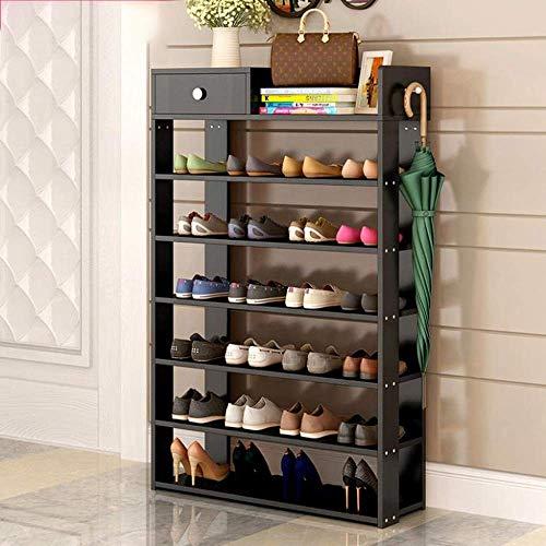 NSYNSY Zapatero para Muebles, 7/8 Niveles Apilable 24-28 Pares Organizador de Zapatos de Almacenamiento de pie con Niveles de Tela Impermeables, fácil de Montar (Color: A, Tamaño: 7 Niveles)