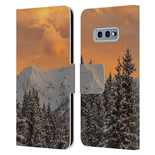 Head Case Designs Licenciado Oficialmente Patrik Lovrin Nubes Naranjas por Encima Apuestas de Sol mágicas Carcasa de Cuero Tipo Libro Compatible con Samsung Galaxy S10e