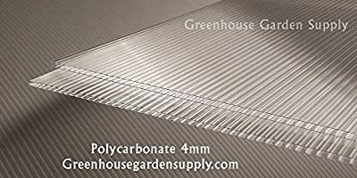 """Polycarbonate Greenhouse Cover 4mm - Clear 24"""" x 48"""" (Pak of 10)"""