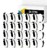 TONERPACK 20 Etiquetas Continuas DK22205, Cintas Compatibles para Impresoras Brother P-Touch QL-500 QL-570 QL-700 QL-720NW QL-800 QL-810W QL-820NWB QL-1050 QL-1100 QL-1110NWB (62mm x 30.48m) (20)