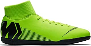 Nike MercurialX Superfly 6 Club Indoor Soccer Shoes (M9.5/W11, Green/Black)