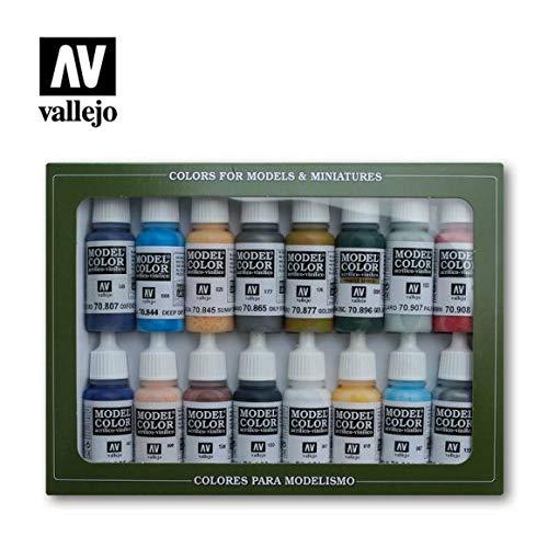Vallejo Model Color zestaw farb akrylowych z wojny secesyjnej - różne kolory (opakowanie 16 szt.)