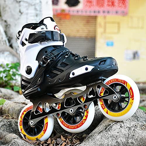 FORFBMUK Patines en Línea Profesional para Mujer Hombre Zapatos de Skate en Línea para Adultos De Una Sola Fila Zapatos...