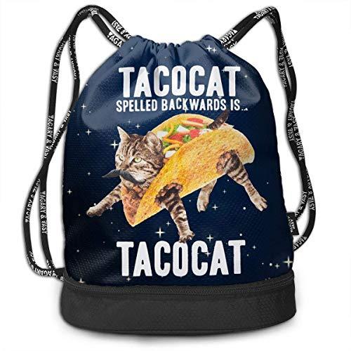 Petrichor Yi Tacocat deletreado al revés es Kitty Navy Mochila con Paquete gráfico