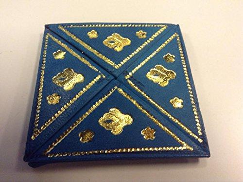 Moroccan Bolso plegable de la moneda de la cartera de cuero en relieve (