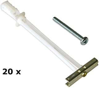 TOGGLER SNAPTOGGLE Drywall Anchor with Included Bolts for 1/4-20 Fastener Size; Holds 80 pounds Each by TOGGLER (20 Pack)