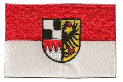 Aufnäher Patch Flagge Deutschland Mittelfranken - 8 x 6 cm