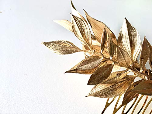 Tocado dorado hojas para boda o eventos