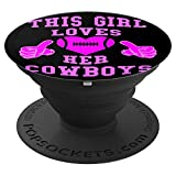 This Girl Loves Her Cowboys Cute Football Cowgirl Heart