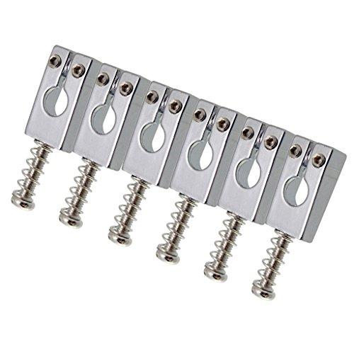 6x Selleta de Cuerdas de Puente para Guitarra Eléctrica - Guitar Bridge...