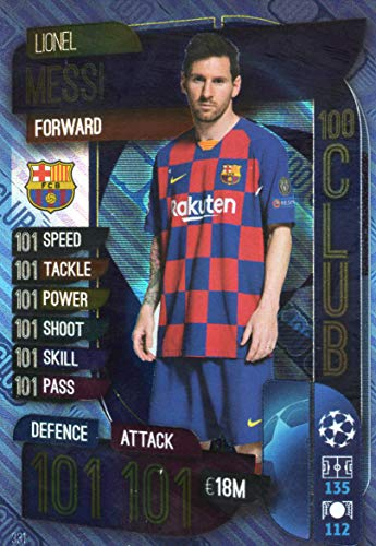 MATCH ATTAX 19/20 Lionel Messi 100 Club Trading Card Barcelona - UK Edition