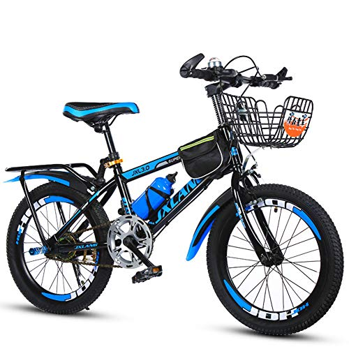 ZTIANR Kids Mountain Bike 18/20/22 Inch 7-15 Years Children Youth Bicycle Single Speed Suspension Fork, Hardtail,Blue,20 inches