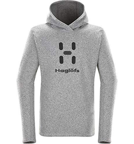 Haglöfs Fleecejacke Herren Hoodie Swook Logo Hood Wärmend, Atmungsaktiv, Elastisch Concrete S S