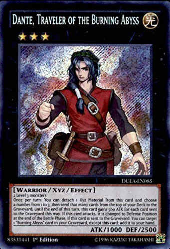 Yu-Gi-Oh! - Dante, Traveler of the Burning Abyss (DUEA-EN085) - Duelist Alliance - Unlimited Edition - Secret Rare by Yu-Gi-Oh!