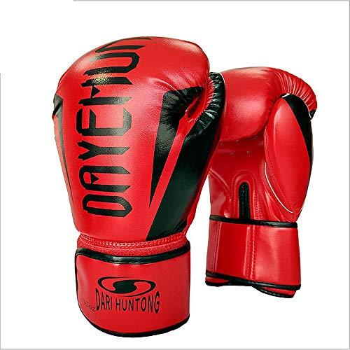 XJLJ Boxhandschuhe Herren Boxhandschuhe Damen Boxhandschuhe Boxhandschuhe Spritzte Gummi-Sparring Taekwondo Kampf Handschuhe Muay Thai Sport und Outdoor-Spiele (Color : Red)
