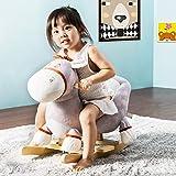 jeerbly Schaukeltier-Kinder und Baby Schaukelpferd, Interessenler Schaukelstuhl für Kinder (Esel)