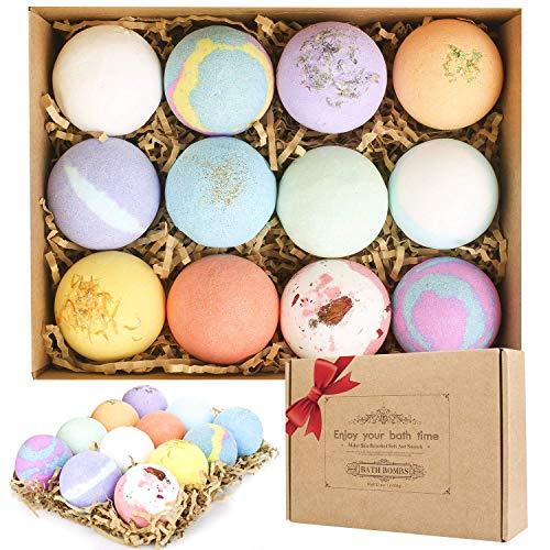 Mathea Bath Bombs Gift Set 12 Pack Moisturizing with Vegan Natural Essential...