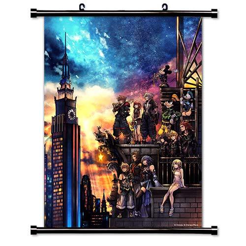 ROUNDMEUP Kingdom Hearts 3 Game Fabric Wall Scroll Poster (16x22) Inches [VG] Kingdom Hearts 3-32