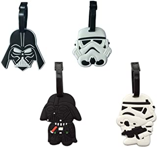 Star and Wars Luggage Tag Hot Street Travel ID Labels Set of 4 Backpack Card