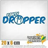 Panty dropper 20 x 6 cm In 15 Farben - Neon + Chrom! JDM Sticker Aufkleber