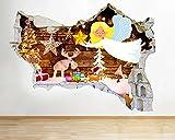 Pegatinas de paredNavidad dibujos animados anime luces de ángel pegatinas de pared de estar dormitorio niñas niños sala de estar Decoración de carteles 60x90cm