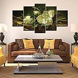 Decoración del hogar HD estilo moderno 5 rosas blancas lienzo pintura núcleo arte cartel 30x50 30x70 30x90cm sin marco