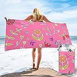 mengmeng Petite Flowers - Toalla de secado rápido rosa para deportes, gimnasio, viajes, yoga, camping, natación, súper absorbente, compacta, ligera, toalla de playa