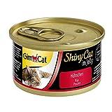 GimCat ShinyCat in Jelly – Pienso para gatos adultos con ave de pollo en gelatina – Pollo – 24 latas (24 x 70 g)