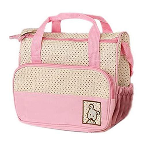 YiyiLai Günstig Windeltasche Mutter Tasche Babytasche Wickeltasche Pink